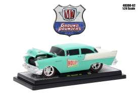 Chevrolet  - 150 1957 sea foam green/ ivory - 1:24 - M2 Machines - 40300-62B - M2-40300-62B | The Diecast Company