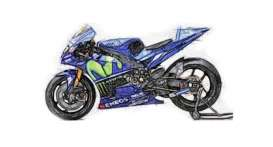 Yamaha  - 2017 blue - 1:12 - Minichamps - mc122173246 | The Diecast Company
