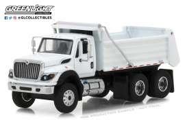 International  - WorkStar Construction Truck 2018 white - 1:64 - GreenLight - 45040A - gl45040A | The Diecast Company