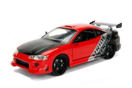 Mitsubishi  - Eclipse 1995 red/black/silver - 1:24 - Jada Toys - 99103r - jada99103r | The Diecast Company
