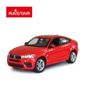 BMW  - X6M 2018 red - 1:24 - Rastar - rastar56600r | The Diecast Company
