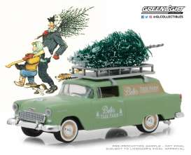 Chevrolet  - Sedan Delivery 1955 green - 1:64 - GreenLight - 37150B - gl37150B | The Diecast Company