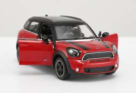 Mini  - Cooper S Countryman red - 1:24 - Rastar - rastar56400r | The Diecast Company