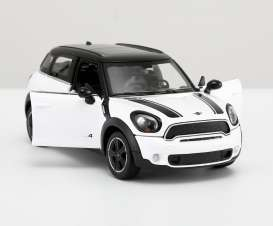Mini  - Cooper S Countryman white - 1:24 - Rastar - rastar56400w | The Diecast Company