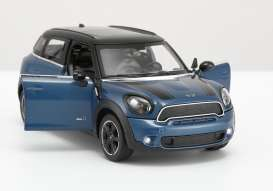 Mini  - Cooper S Countryman blue - 1:24 - Rastar - rastar56400b | The Diecast Company