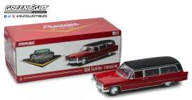 Cadillac  - S & S Limousine 1966 red/black - 1:18 - GreenLight Precision Collection - pc18008 - GLPC18008 | The Diecast Company