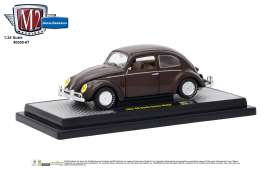 Volkswagen  - Beetle DeLuxe 1952 pearl brown - 1:24 - M2 Machines - 40300-67A - M2-40300-67A | The Diecast Company