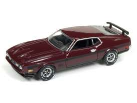 Ford  - Mustang Mach 1 1972 maroon/black - 1:64 - Auto World - AWSP011 | The Diecast Company