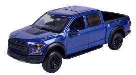 Ford  - F-150 Raptor 2017 blue - 1:27 - Motor Max - mmax79344b | The Diecast Company