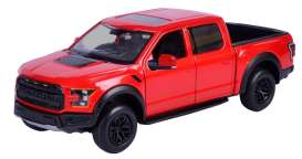 Ford  - F-150 Raptor 2017 red - 1:27 - Motor Max - mmax79344r | The Diecast Company