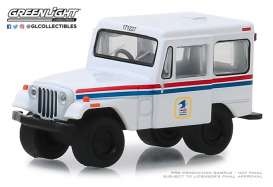 Jeep  - DJ-5 1971 white/red/blue - 1:64 - GreenLight - 29997 - gl29997 | The Diecast Company