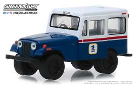 Jeep  - DJ-5 1971 blue/white/red - 1:64 - GreenLight - 29998 - gl29998 | The Diecast Company