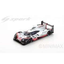 Porsche  - 919 Hybrid 2017 black/white/red - 1:64 - Spark - Y112 - spaY112 | The Diecast Company
