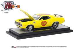 Plymouth  - Hemi Cuda 1971 yellow - 1:24 - M2 Machines - 40300-66A - M2-40300-66A | The Diecast Company