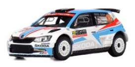Skoda  - Fabia R5 2018 red/white/blue - 1:43 - IXO Models - ixram664 | The Diecast Company