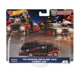 Nissan  - Skyline van 1969 black/red - 1:64 - Hotwheels - mvFVL00 - hwmvFVL00 | The Diecast Company