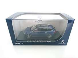 Peugeot  - 2015 magnetic blue - 1:43 - Norev - 473838 - nor473838 | The Diecast Company