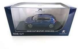 Peugeot  - 2015 magnetic blue - 1:43 - Norev - 473825 - nor473825 | The Diecast Company