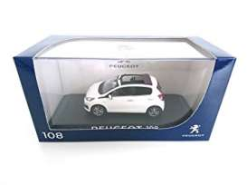 Peugeot  - 2014 White with purple red sliding  - 1:43 - Norev - 471800 - nor471800 | The Diecast Company