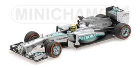 Mercedes Benz Petronas - AMG 2013 silver-green - 1:43 - Minichamps - 410130209 - mc410130209 | The Diecast Company