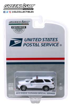 Dodge  - Durango 2018 white - 1:64 - GreenLight - 29993 - gl29993 | The Diecast Company