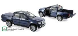 Mercedes Benz  - X-Class 2018 blue metallic - 1:18 - Norev - 183421 - nor183421 | The Diecast Company