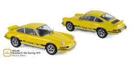 Porsche  - 911 RS 1973 yellow/black - 1:18 - Norev - 187638 - nor187638 | The Diecast Company