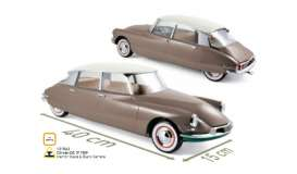 Citroen  - DS 19 1959 beige/silver - 1:12 - Norev - 121562 - nor121562 | The Diecast Company