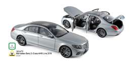 Mercedes Benz  - S-Class AMG Line 2018 silver - 1:18 - Norev - 183479 - nor183479 | The Diecast Company