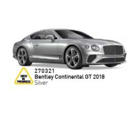 Bentley  - Continental GT 2018 silver - 1:43 - Norev - 270321 - nor270321 | The Diecast Company