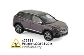 Peugeot  - 3008 GT 2016 grey - 1:43 - Norev - 473888 - nor473888 | The Diecast Company