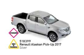 Renault  - Alaskan Pick-Up 2017 silver - 1:43 - Norev - 518399 - nor518399 | The Diecast Company