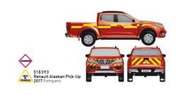 Renault  - Alaskan Pick-Up 2017 red/yellow - 1:43 - Norev - 518393 - nor518393 | The Diecast Company