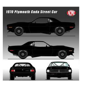 Plymouth  - Trans Am Cuda 1970 black - 1:18 - Acme Diecast - 1806108 	 - acme1806108 | The Diecast Company