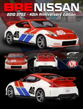 Nissan  - 370Z 2010 red/white - 1:18 - Acme Diecast - US013 - GTUS013 | The Diecast Company