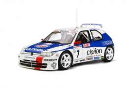 Peugeot  - 306 Maxi 1996 white/blue - 1:18 - OttOmobile Miniatures - 664 - otto664 | The Diecast Company