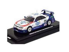 Nissan  - GT-R R33 2007 blue/white/red - 1:64 - Kyosho - 6651A - kyo6651A | The Diecast Company
