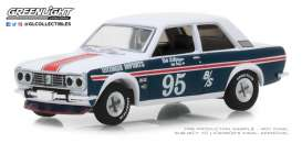 Datsun  - 510 1969 blue/white - 1:64 - GreenLight - 47020A - gl47020A | The Diecast Company