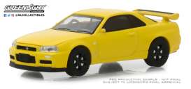 Nissan  - Skyline GTS-R 2001 yellow - 1:64 - GreenLight - 47020F - gl47020F | The Diecast Company