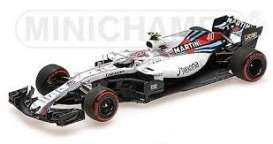 Williams Mercedes Benz - FW41 2018 white/red-blue stripes - 1:43 - Minichamps - 417180540 - mc417180540 | The Diecast Company
