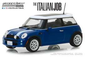 Mini  - Cooper S 2003 blue/white stripes - 1:43 - GreenLight - 86546 - gl86546 | The Diecast Company