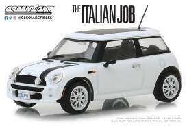 Mini  - Cooper S 2003 white/black stripes - 1:43 - GreenLight - 86548 - gl86548 | The Diecast Company
