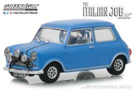 Austin  - Mini Cooper S 1967 blue/black straps - 1:43 - GreenLight - 86549 - gl86549 | The Diecast Company