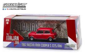 Austin  - Mini Cooper S 1967 red/black straps - 1:43 - GreenLight - 86550 - gl86550 | The Diecast Company