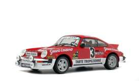 Porsche  - 911 SC Gr.4 red/white - 1:18 - Solido - 1800804 - soli1800804 | The Diecast Company