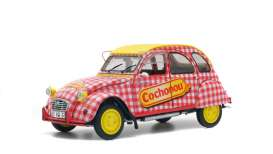 Citroen  - 2CV 1985 red/white/yellow - 1:18 - Solido - 1850021 - soli1850021 | The Diecast Company