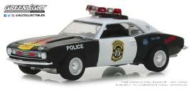 Chevrolet  - Camaro 1969 white/black - 1:64 - GreenLight - 42870A - gl42870A | The Diecast Company