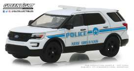 Ford  - Police Interceptor Utility 2016 white/blue - 1:64 - GreenLight - 42870E - gl42870E | The Diecast Company