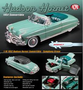 Hudson  - Hornet convertible 1952 green - 1:18 - Acme Diecast - acme1807503 | The Diecast Company