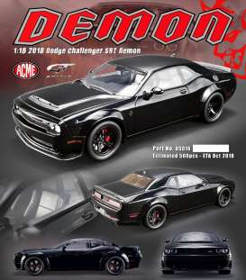 Dodge  - Challenger SRT Demon 2018 black - 1:18 - GT Spirit - US012 - GTUS016 | The Diecast Company